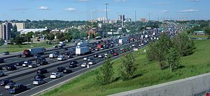 Annual average daily traffic - Image: Highway 401 east of Highway 400