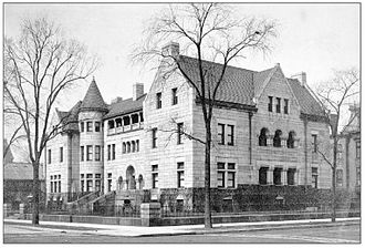 Midlothian Country Club - Site of the founding of the Midlothian Country Club Initial meetings which led to the formation of the Midlothian Country club were held in the living room of the residence of Harlow Niles Higinbotham at 2934 S. Michigan Avenue in Chicago. Higinbotham was the president of the World's Columbian Exposition and a director of The Northern Trust Bank and a director and partner of Marshall Field & Co. The house was demolished in 1920 and replaced by a service station.