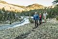 Hikers along the Yellowstone River near Garnett Hill (30798471023).jpg