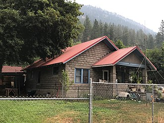 National Register of Historic Places listings in Mineral County, Montana - Image: Historic house in Alberton, Montana 1
