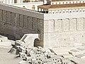 Holyland Model of Jerusalem - south-western corner of the Temple Mount (5540487348).jpg