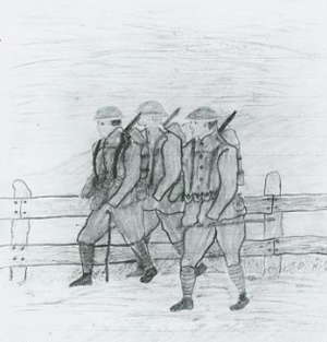 Horace Pippin - Image: Horace Pippen, Three Soliders on March, War Diary Notebooks