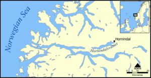 Hornindalsvatnet - Location of Lake Hornindalsvatnet