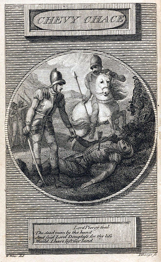 The Ballad of Chevy Chase - Copperplate illustration for 1790 edition