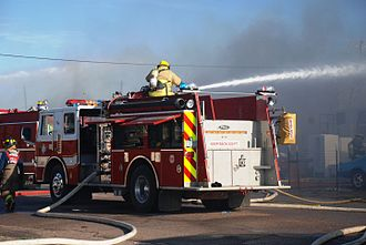 Pierce Manufacturing - Pierce fire truck in action. Huachuca City, Arizona, 2010.