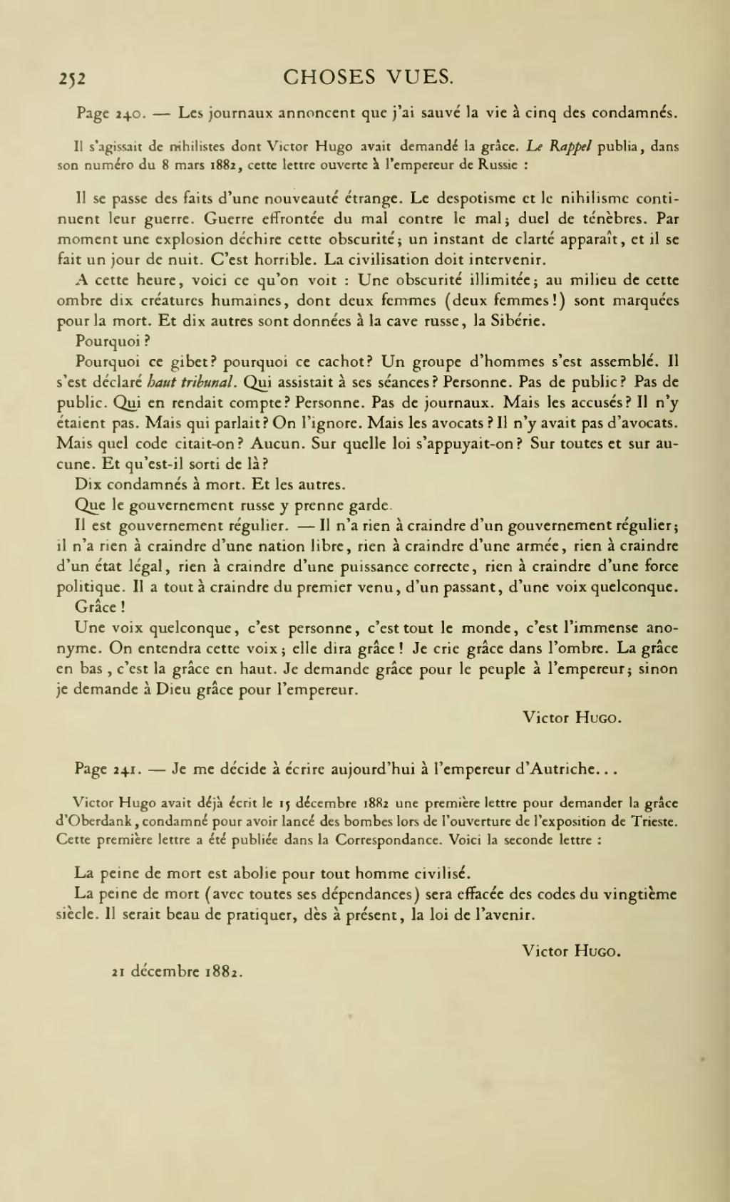 Page Hugo œuvres Completes Impr Nat Choses Vues Tome Ii Djvu