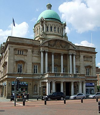 Grade II* listed buildings in the East Riding of Yorkshire - Image: Hull City Hall geograph.org.uk 832434