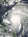 Satellite image of Hurricane Ivan on September 13, 2004