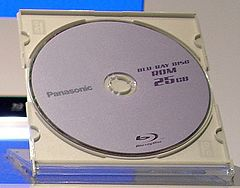 Prazni Blu-ray Discovi proizvođača Panasonic. Single Layer Disc s 25 GB kapaciteta bez zaštitnog oklopa (cartridge)