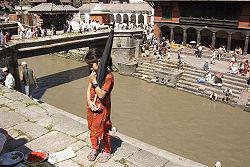 Shaiva-devotees gather at the Hindu Pashupatinath Temple