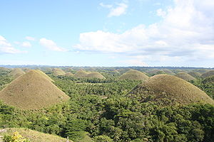 View on the Chocolate Hills from the Chocolate...