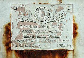 Arrigoni Bridge - Award plaque