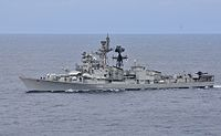 INS Ranvijay at annual bi-lateral naval field training exercise.jpg