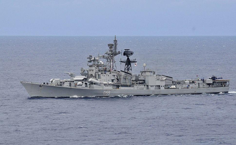 INS Ranvijay at annual bi-lateral naval field training exercise