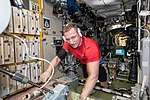 ISS-57 Sergey Prokopyev exercises inside the Zvezda Service Module.jpg