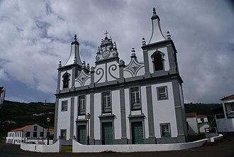 Praia do Almoxarife - The front fachade of the Church of Nossa Senhora da Graça