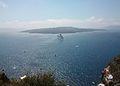 Illa de Nea Kameni des de Fira.JPG
