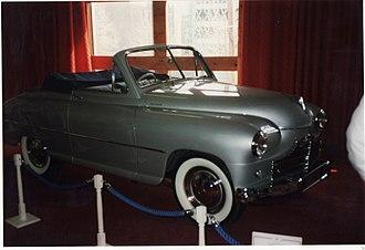 Imperia Automobiles - Standard Vanguard convertible built by Imperia