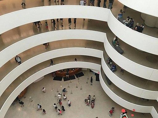 In the Guggenheim Museum, New York City