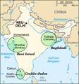 Indian Jews communities map-de.png