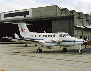 Indonesia Air Transport - IAT Beech Super King Air at Perth Airport (early 1990s).