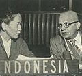 Indonesian and Indian delegates speaking, Wanita di Indonesia p76 (Ministry of Information).jpg