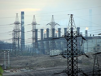 Zavodskyi District, Zaporizhia - Image: Industry in Zaporizhia, 2007
