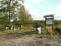 Information board and gate, Cistern Wood - geograph.org.uk - 565264.jpg
