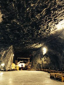 Inside the Praid salt mine, Romania.JPG