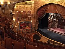 The inside of Mabel Tainter Theater in Menomonie, Wisconsin.