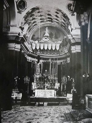 St. George's Basilica, Malta - Interior of St George's in the 1930s