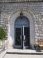 Intrare in interiorul Mausoleului Eroilor de la Mateias.JPG