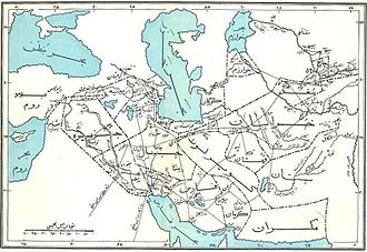 Golestan Province - Map of the Abbasid Caliphate showing Gorgan province, forerunner to modern-day Golestan Province
