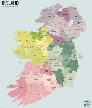Irish local elections, 1920 - Map of Ireland's various county, urban, and rural district councils.