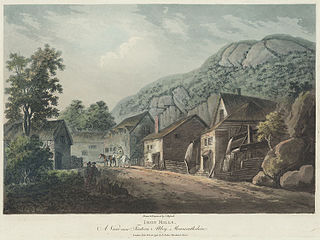 Iron Mills: landscape print; view near Tintern Abbey, Monmouthshire