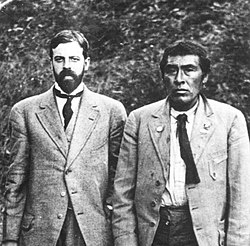 Alfred L. Kroeber with Ishi in 1911. Ishi is believed to be the last Native American in Northern California to have lived the bulk of his life completely outside the European American culture.
