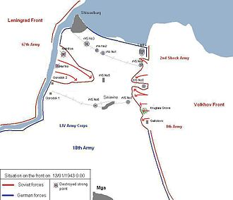 Operation Iskra - Soviet advance on 12 January