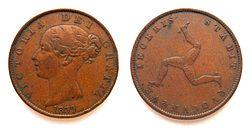 En penny fra 1839