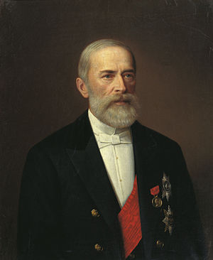 Peasants' Land Bank - Portrait of Nikolai Bunge (1887), founder of the bank.