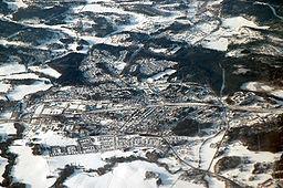 Luftfoto over Järna i februar 2007.