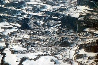 Järna, Södertälje Municipality - An aerial view of Järna - February 2007