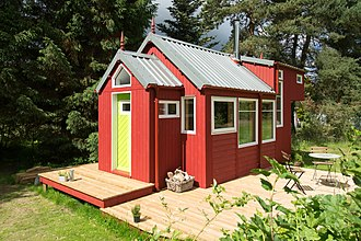 Tiny house movement - The NestHouse™ tiny house designed and built by Jonathan Avery of Tiny House Scotland, Linlithgow UK.