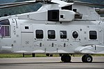 JMSDF MCH-101(8657) cabin section left front view at Maizuru Air Station May 18, 2019 02.jpg