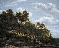 Jacob van Ruisdael - Sloping Field with Sheaves of Wheat.jpg