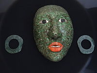 Jade Mask and Earrings - Archaeological Museum - Fort of San Miguel - Campeche - Mexico.jpg