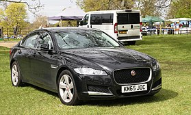 Jaguar XF (X260) 1999cc diesel registered November 2015.JPG