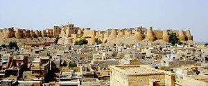 Vue sur la ville fortifiée