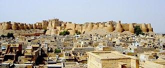 Jaisalmer Fort - Image: Jaisalmer forteresse