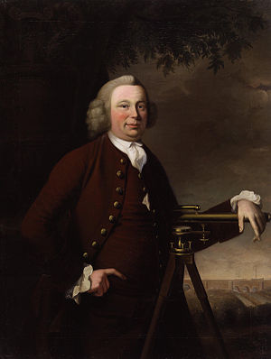 James Brindley - James Brindley with Barton Aqueduct in the background by Francis Parsons (1770)