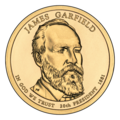 James Garfield $1 Presidential Coin obverse.png